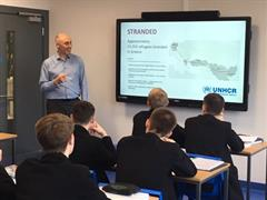 Year 11 boys learn about the plight of Syrian refugees