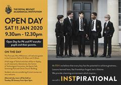 RBAI Open Day: Saturday 11th January 2020