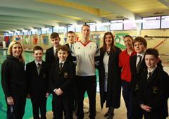 British Olympic swimmers visit school